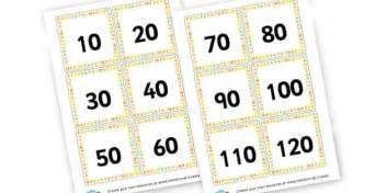 Printable Number Cards Multiples Of 10 | multiples of 10 cards counting in 10s primary resources