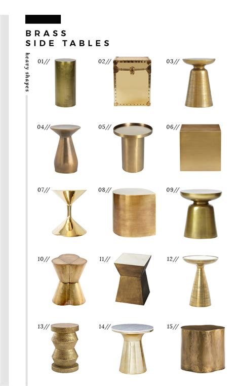 brass side table the best brass side tables of every style and price room