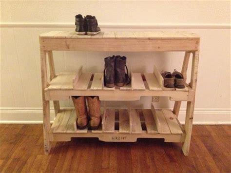 15 best shoe rack ideas 15 creative diy reclaimed wood pallet shoe rack recycled