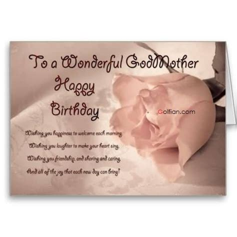 Godmother Cards Birthday 45 Best Birthday Wishes For Godmother Beautiful
