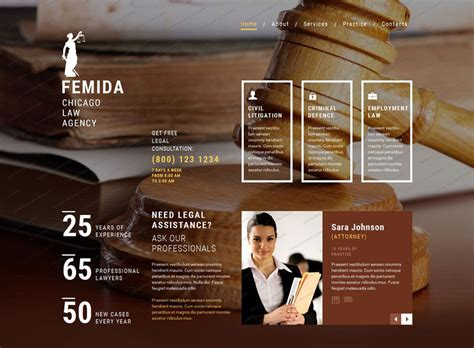 50 Best Lawyer Website Templates Free Premium Freshdesignweb Lawyer Web Templates