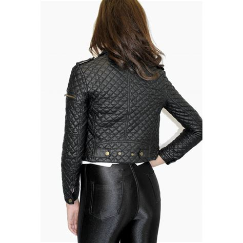 Faux Leather Jacket faux leather quilted jacket