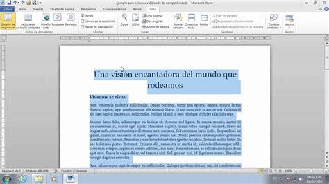 como hacer una bibliografia imagui word 2010 organizar el texto en columnas youtube