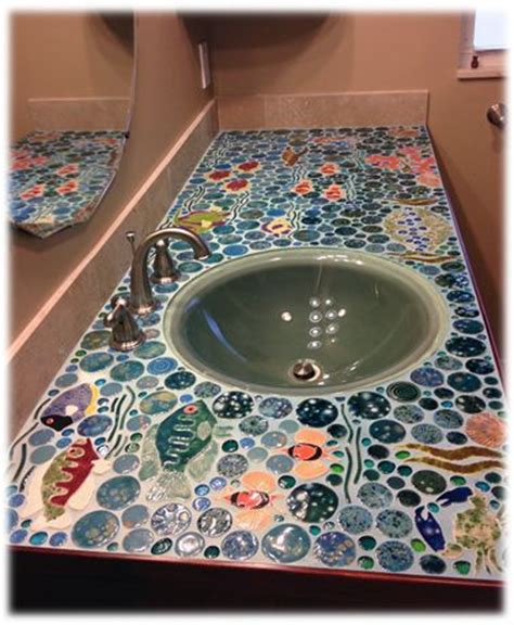 Mosaic Kitchen Countertop Ideas 17 best images about glass on gardens mosaics and glass bottles