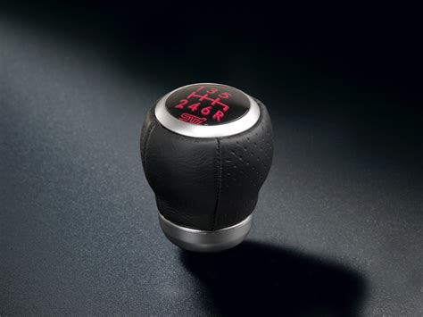 sti leather shift knob 6mt