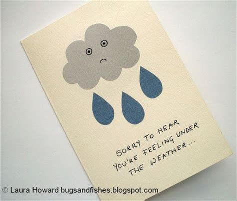 get well soon cards for to make bugs and fishes by lupin diy get well soon card