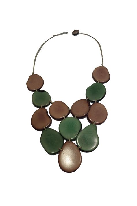 organic tagua jewelry turquoise waterfall necklace from
