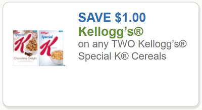 Special K Cereal Printable Coupons kellogg s coupon 1 any two boxes special k cereal