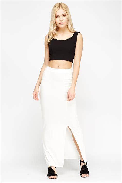 front slit maxi skirt dress ala