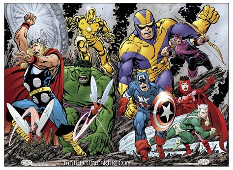 avengers by john byrne john byrne avengers assemble in ian sokoliwski illustrator and colorist s collaborations