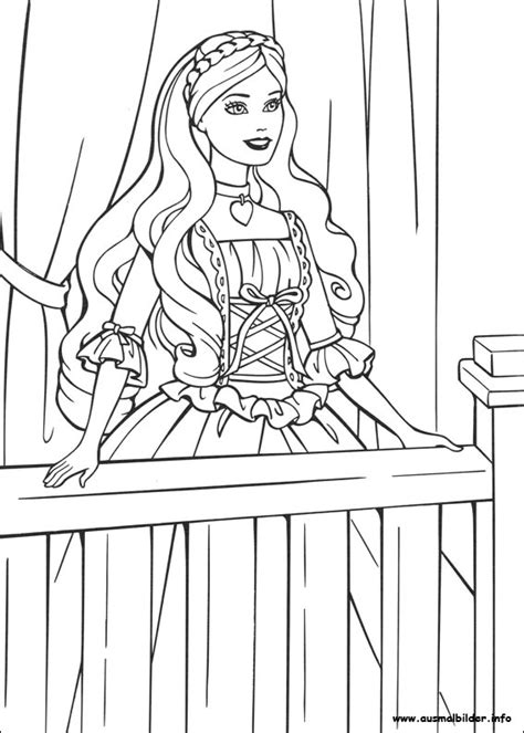 Barbie Als Die Prinzessin Und Das Dorfm 228 Dchen Malvorlagen Princess And The Pea Coloring Page Free Coloring Sheets