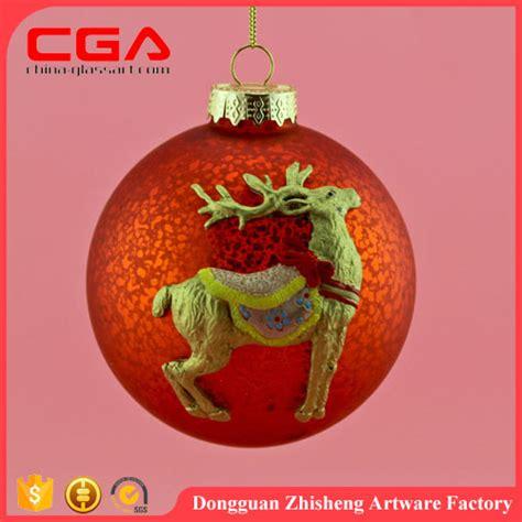 high quality customized handmade hanging glass christmas
