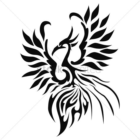 phoenix tattoo vector image 1452477 stockunlimited