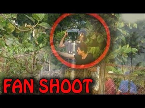 Srk House shahrukh khan shooting his movie fan outside his