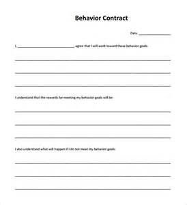 behavior contract templates behaviour contract 19 free documents in pdf doc