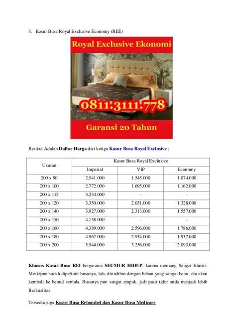 Kasur Busa Royal Ukuran 160x200 0811 311 1105 jual kasur busa surabaya kasur busa royal