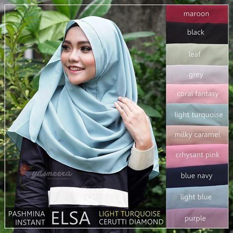 yasmeera pashmina instant elsa light turquoise hijab
