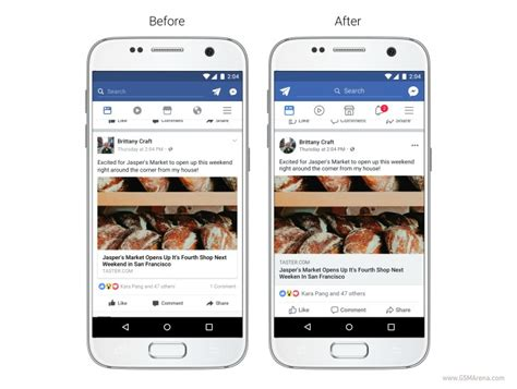 facebooke mobile s news feed gets a slight redesign on mobile