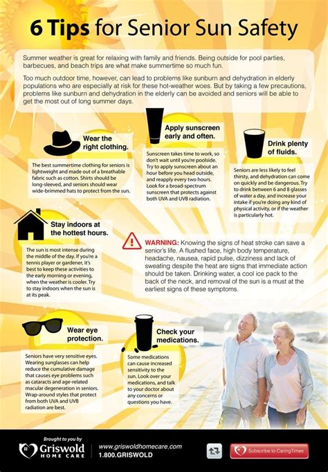 Summer Care 6 Useful Strategies by 6 Tips For Senior Sun Safety And Summer Will Be