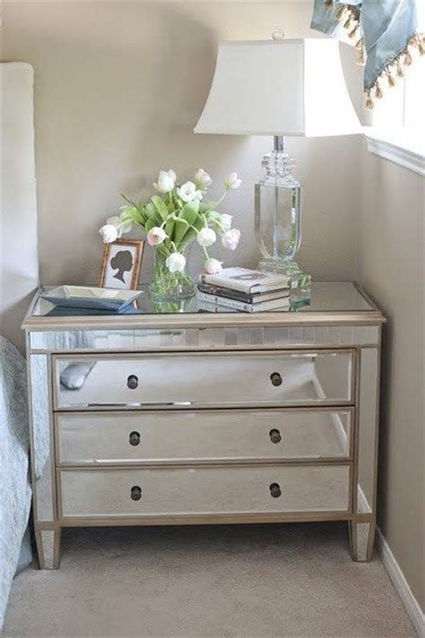 Mirrored Dressers And Nightstands Pin By Danielle Harrison On For The Home Mirrored Nightstand Furniture And Guest