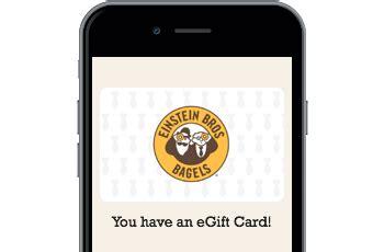 Einsteinbros Com Gift Card Balance - einstein bros bagels gift cards from cashstar