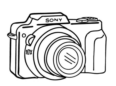 camera coloring worksheets coloring pages