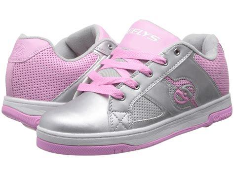 heely s split roller shoe silver pink