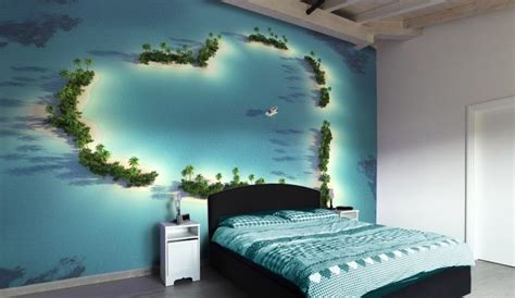 heart   ocean bedroom photo wallpaper wall mural