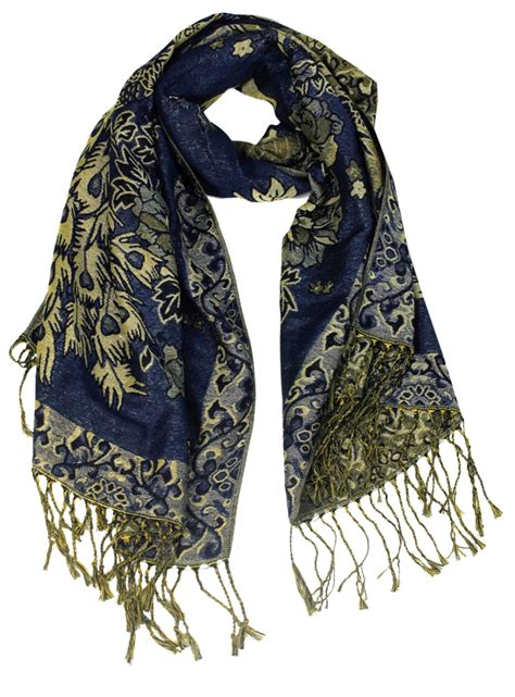 wholesale layer blue pashmina scarf