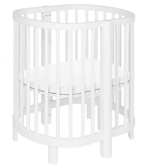 Modern Mini Crib Babyletto Hula Convertible Oval Crib Mini Bassinet White Finish