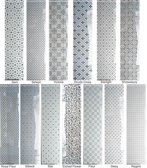 repeat etched glass patterns