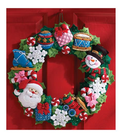 felt applique kits bucilla wreath felt applique kit toys jo