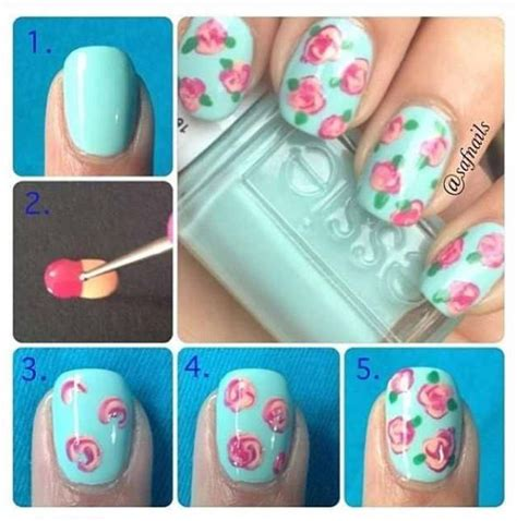 how to make roses on nails diy nail alldaychic