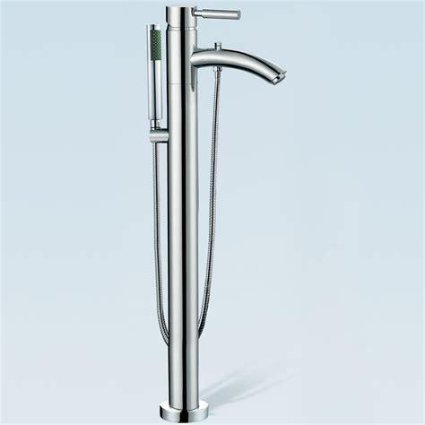 floor mount bathtub faucet taron floor mounted bathtub faucet by wyndham collection free shipping modern bathroom