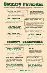 country buffets menu