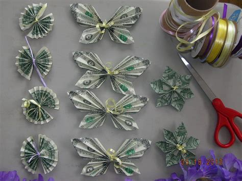 Origami Flower Money - origami money butterfly origami money fan origami money