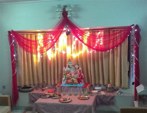 lighting decoration  ganpati  home lighting ideas