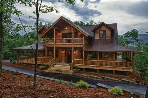 Log Homes With Wrap Around Porches by This Is A Real Beauty I Love The Wrap Around Porch