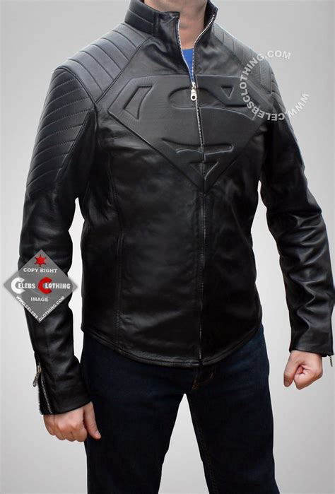 Jaket Hoodie Superman Navy smallville superman jacket leather in black