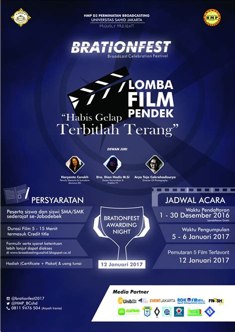 film pendek festival 2016 brationfest 2017 lomba film pendek event universitas