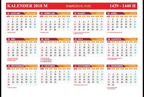 Kalender 2018 Plus Libur Nasional Gratis Kalender 2018 Pdf Lengkap Libur Nasional Dan