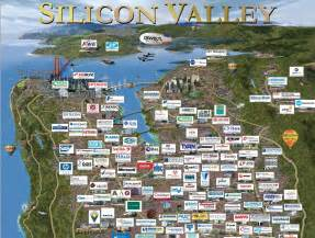 Silicon Valley The Gallery For Gt Silicon Valley Company Map 2014