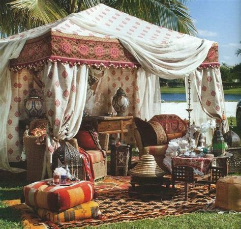 Garden Accessories And Decor India Indian Silk Tent Eclectic Outdoor Decor Other Metro