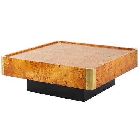 Burlwood Coffee Table Vintage Square Burl Wood Coffee Table At 1stdibs