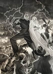 alex ross art premieres universal monsters portraits at