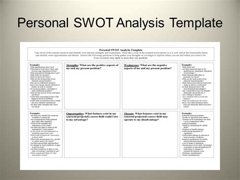 8 Swot Analysis Exle Personal 28 Images 8 Swot Sle Swot Analysis Template
