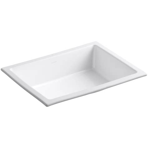 White Rectangular Undermount Bathroom Sink by Shop Kohler Verticyl White Undermount Rectangular Bathroom