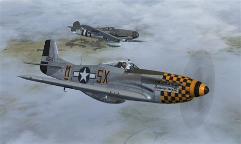 flight replicas and warbirdsim bf109 p 51k 171 simflight