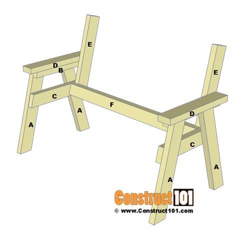2 x 4 bench plans 2x4 bench plans step by step material list construct101