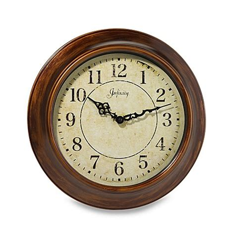 bed bath and beyond clocks infinity instruments metal 14 inch wall clock bed bath
